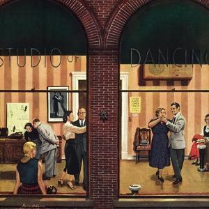 """Dancing Class"", May 10, 1952 by Stevan Dohanos"