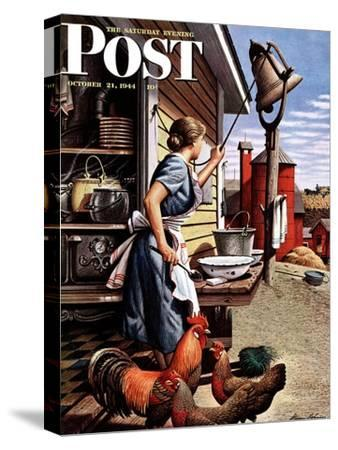 """Dinner Bell,"" Saturday Evening Post Cover, October 21, 1944"