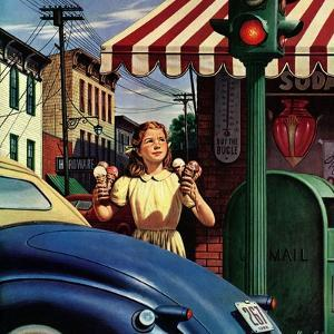 """""""Dripping Cones,"""" July 29, 1944 by Stevan Dohanos"""