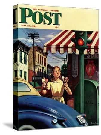 """Dripping Cones,"" Saturday Evening Post Cover, July 29, 1944"