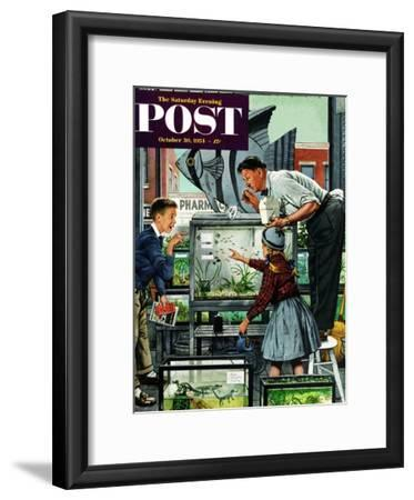 """Fish Aquarium"" Saturday Evening Post Cover, October 30, 1954"