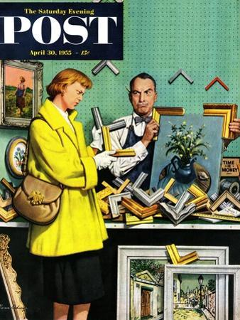 """""""Frame-Up"""" Saturday Evening Post Cover, April 30, 1955 by Stevan Dohanos"""