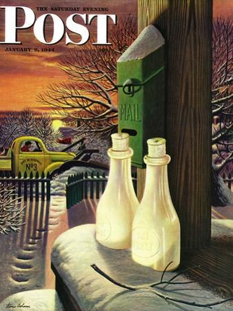 """Frozen Milk,"" Saturday Evening Post Cover, January 8, 1944"