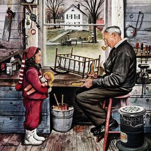 """Grandpa's Workshop,"" November 12, 1949 by Stevan Dohanos"