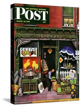 """""""Hardware Store at Springtime,"""" Saturday Evening Post Cover, March 16, 1946"""