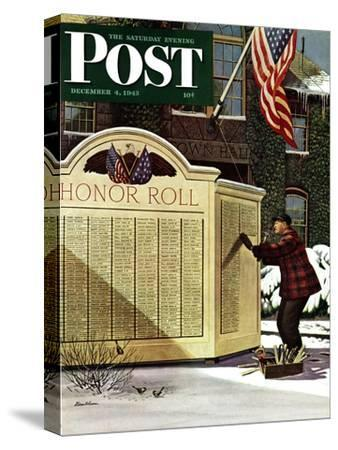 """""""Honoring the Dead,"""" Saturday Evening Post Cover, December 4, 1943"""