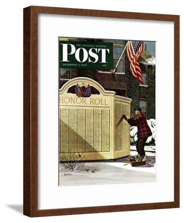 """Honoring the Dead,"" Saturday Evening Post Cover, December 4, 1943"