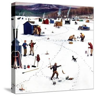 """Ice Fishing Camp"", January 12, 1957"