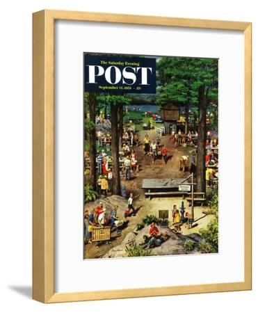 """Labor Day Picnic"" Saturday Evening Post Cover, September 11, 1954"