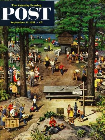 """""""Labor Day Picnic"""" Saturday Evening Post Cover, September 11, 1954"""