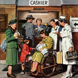 """Leaving the Hospital,"" October 22, 1949 by Stevan Dohanos"