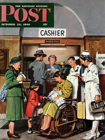 """Leaving the Hospital,"" Saturday Evening Post Cover, October 22, 1949"