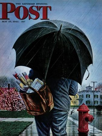 """Mailman,"" Saturday Evening Post Cover, May 13, 1944"