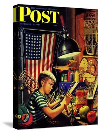 """Model Airplanes,"" Saturday Evening Post Cover, December 9, 1944"