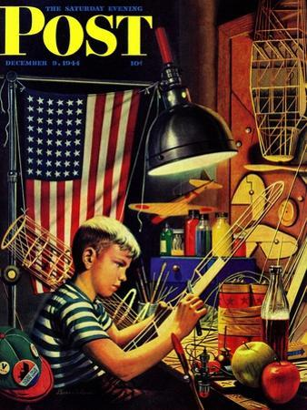 """""""Model Airplanes,"""" Saturday Evening Post Cover, December 9, 1944"""