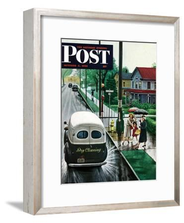 """Muddied by Dry Cleaning Truck,"" Saturday Evening Post Cover, October 2, 1948"