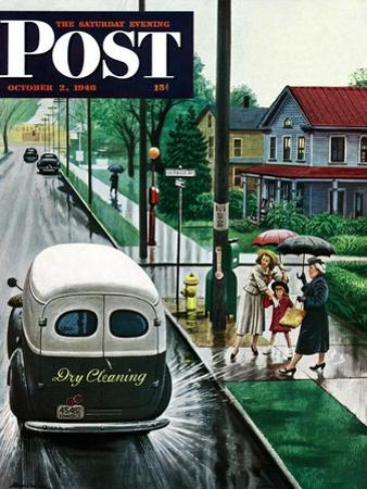 """""""Muddied by Dry Cleaning Truck,"""" Saturday Evening Post Cover, October 2, 1948"""