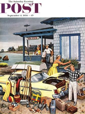 """""""Packing the Car"""" Saturday Evening Post Cover, September 8, 1956 by Stevan Dohanos"""