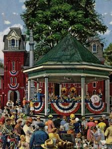 """Patriotic Band Concert"", July 7, 1951 by Stevan Dohanos"