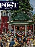 """Trainyard Flower Garden,"" August 9, 1947-Stevan Dohanos-Giclee Print"