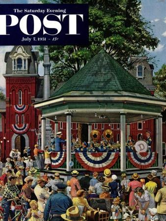 """Patriotic Band Concert"" Saturday Evening Post Cover, July 7, 1951"
