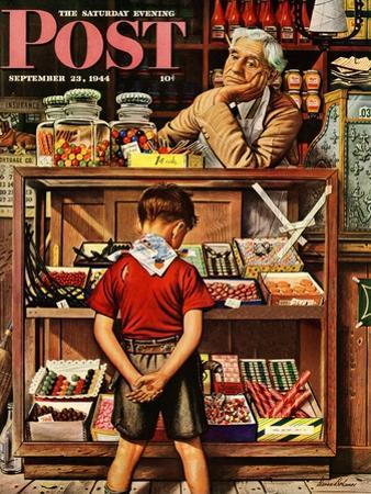 """Penny Candy,"" Saturday Evening Post Cover, September 23, 1944 by Stevan Dohanos"