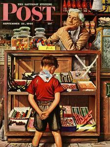 """""""Penny Candy,"""" Saturday Evening Post Cover, September 23, 1944 by Stevan Dohanos"""