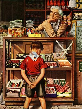 """Penny Candy,"" September 23, 1944 by Stevan Dohanos"