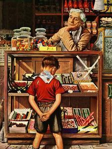 """""""Penny Candy,"""" September 23, 1944 by Stevan Dohanos"""