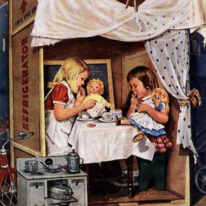"""""""Playing House"""", January 31, 1953 by Stevan Dohanos"""