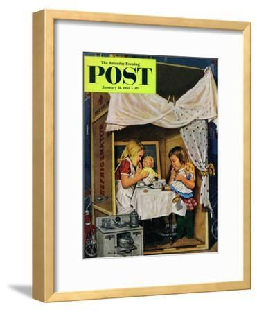 """""""Playing House"""" Saturday Evening Post Cover, January 31, 1953"""