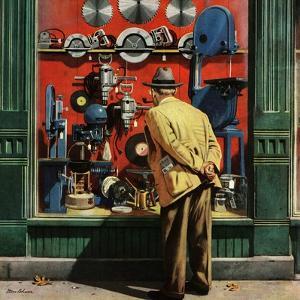 """Power Tool Window Shopping"", November 10, 1951 by Stevan Dohanos"