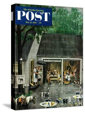 """Rain-out Birthday Party"" Saturday Evening Post Cover, May 22, 1954"