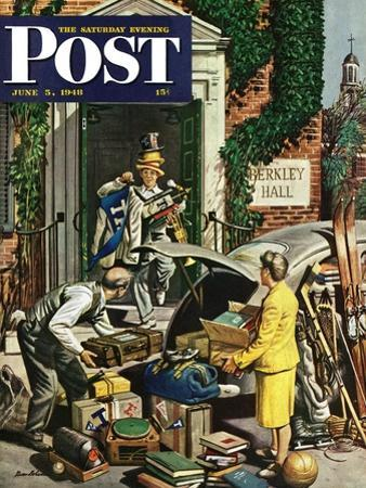 """""""Returning Home From College,"""" Saturday Evening Post Cover, June 5, 1948"""