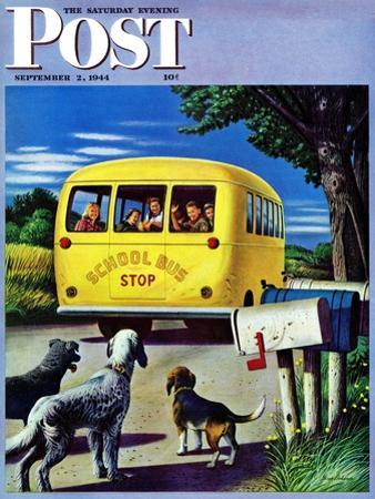 """School Bus,"" Saturday Evening Post Cover, September 2, 1944"