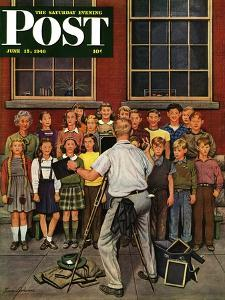"""School Pictures,"" Saturday Evening Post Cover, June 15, 1946 by Stevan Dohanos"
