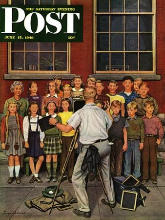 """School Pictures,"" Saturday Evening Post Cover, June 15, 1946"