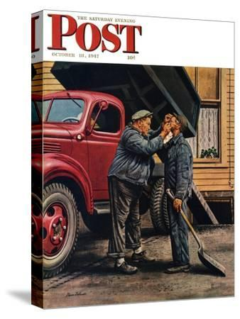 """""""Speck of Coal,"""" Saturday Evening Post Cover, October 18, 1947"""
