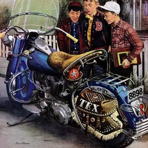 """Tex's Motorcycle"", April 7, 1951 by Stevan Dohanos"