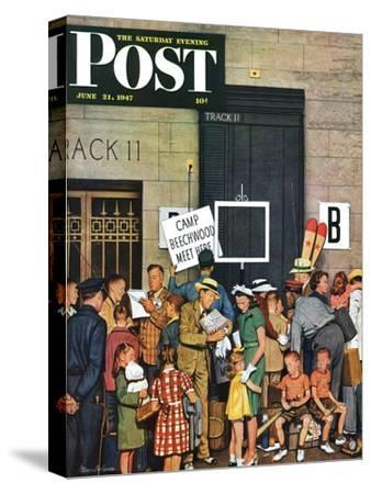 """Track 11,"" Saturday Evening Post Cover, June 21, 1947"