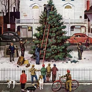 """Tree in Town Square,"" December 4, 1948 by Stevan Dohanos"