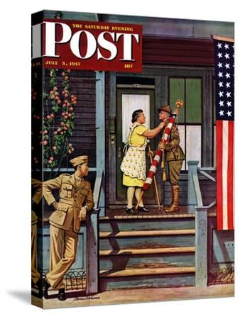 """Two Generations of Vets,"" Saturday Evening Post Cover, July 5, 1947"