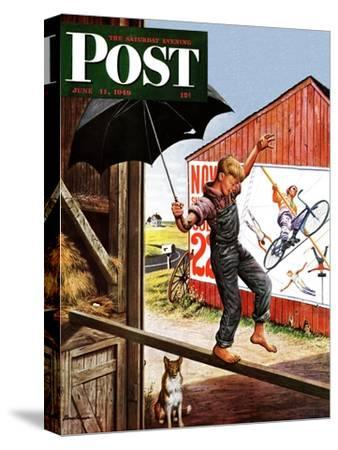 """Walking the Tightrope,"" Saturday Evening Post Cover, June 11, 1949"