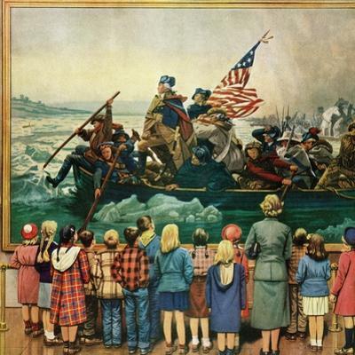 """Washington Crossing the Delaware"", February 24, 1951 by Stevan Dohanos"