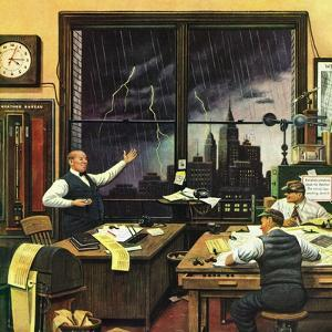 """""""Weatherman Was Right,"""" April 27, 1946 by Stevan Dohanos"""