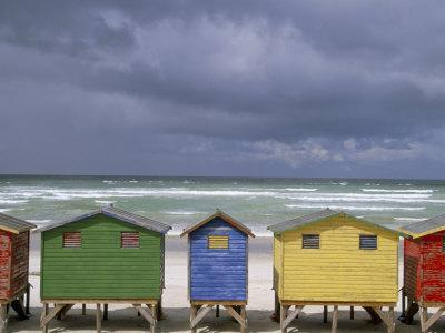 Beach Huts, Muizenberg, Cape Peninsula, South Africa, Africa