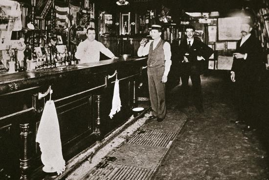 Steve Brodie in his bar, the New York City Tavern, New York City, USA, c1890s-Unknown-Photographic Print