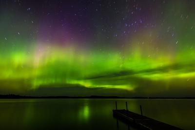 Aurora Borealis over Burntside Lake