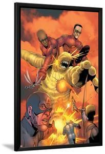 Ultimates Annual No.1 Group: Goliath, Hawkeye, Wasp, Captain America and Ultimates Charging by Steve Dillon