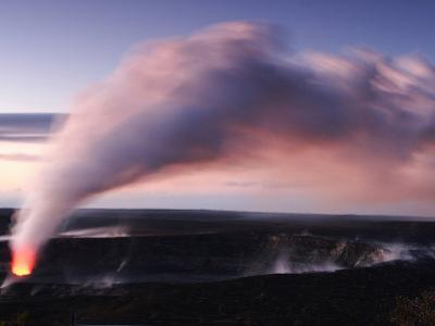Steam and Ash Eruption at Halemaumau, the Summit Crater of Kilauea
